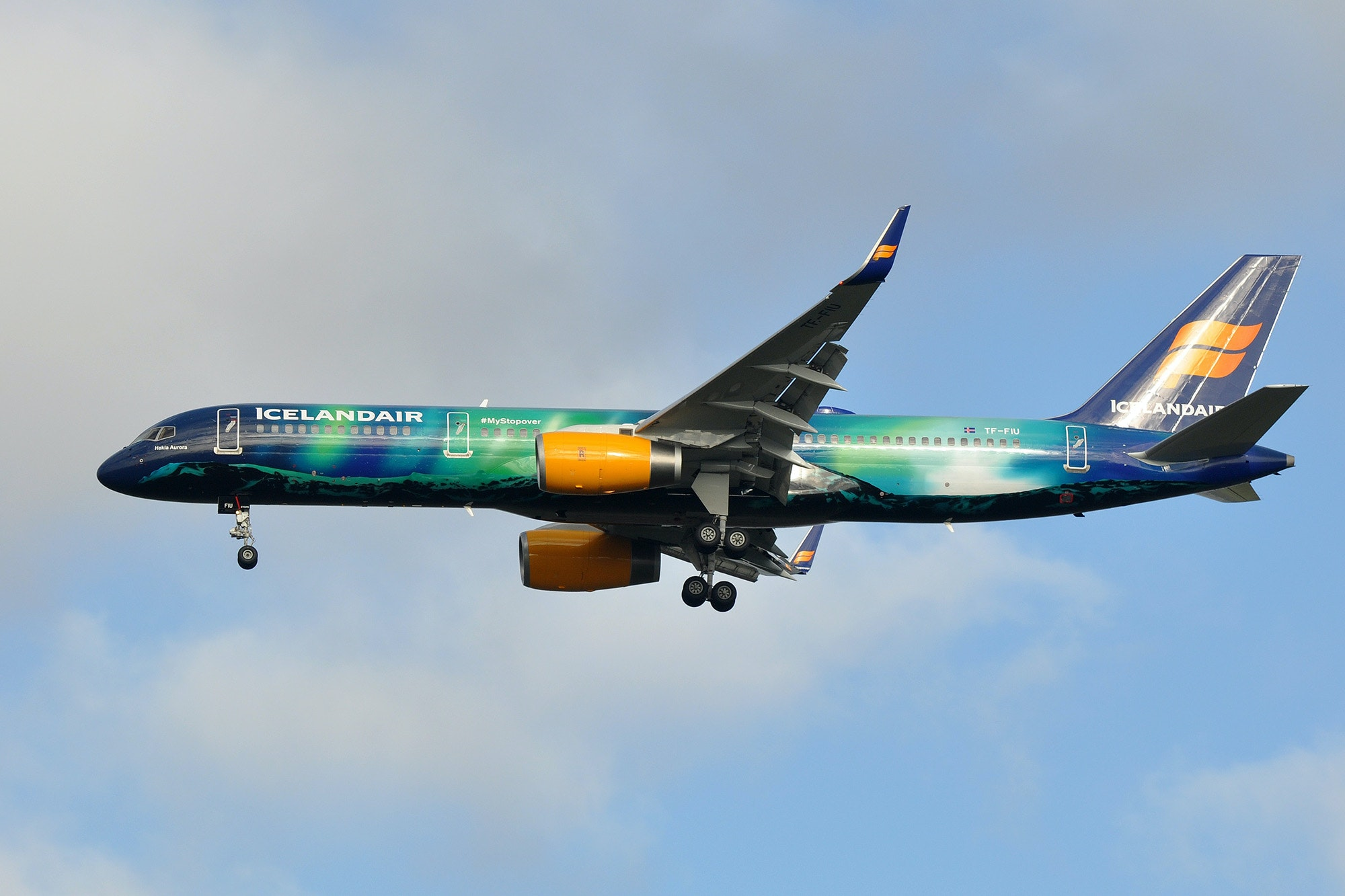Icelandair's special livery designs feature natural wonders, including the northern lights.