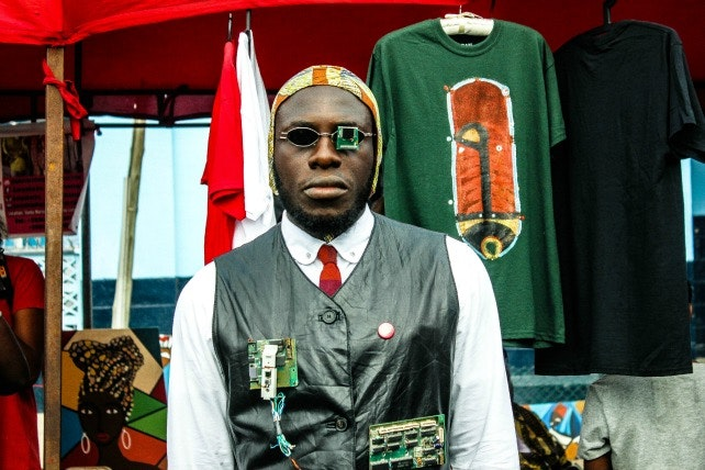 Steelo, an Accra-based Tastemakers ambassador at the Chale Wote Street Art Festival, 2015