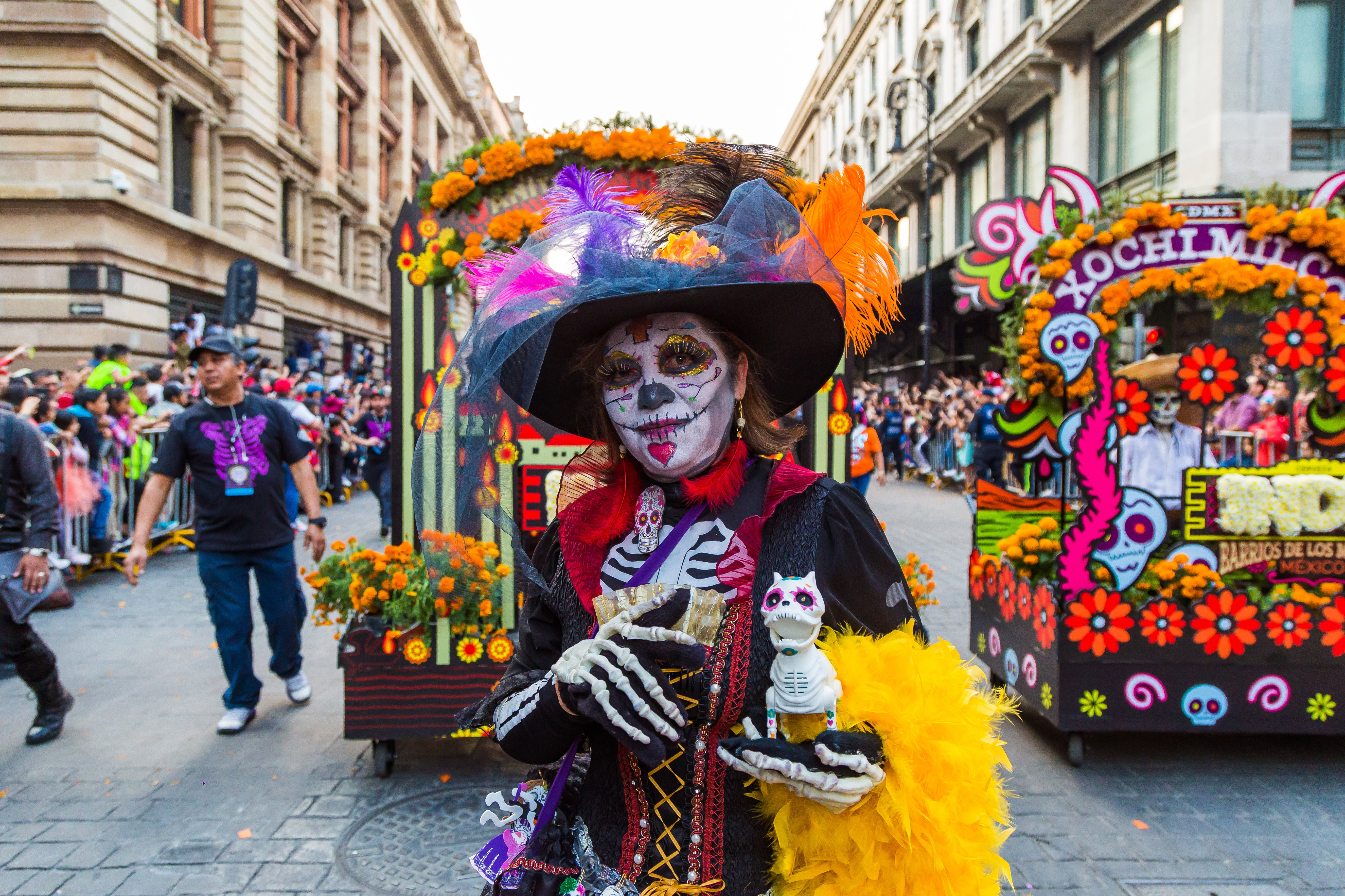In 2017, Mexico City parade organizers put together special homages to the victims of the September 19 earthquake.