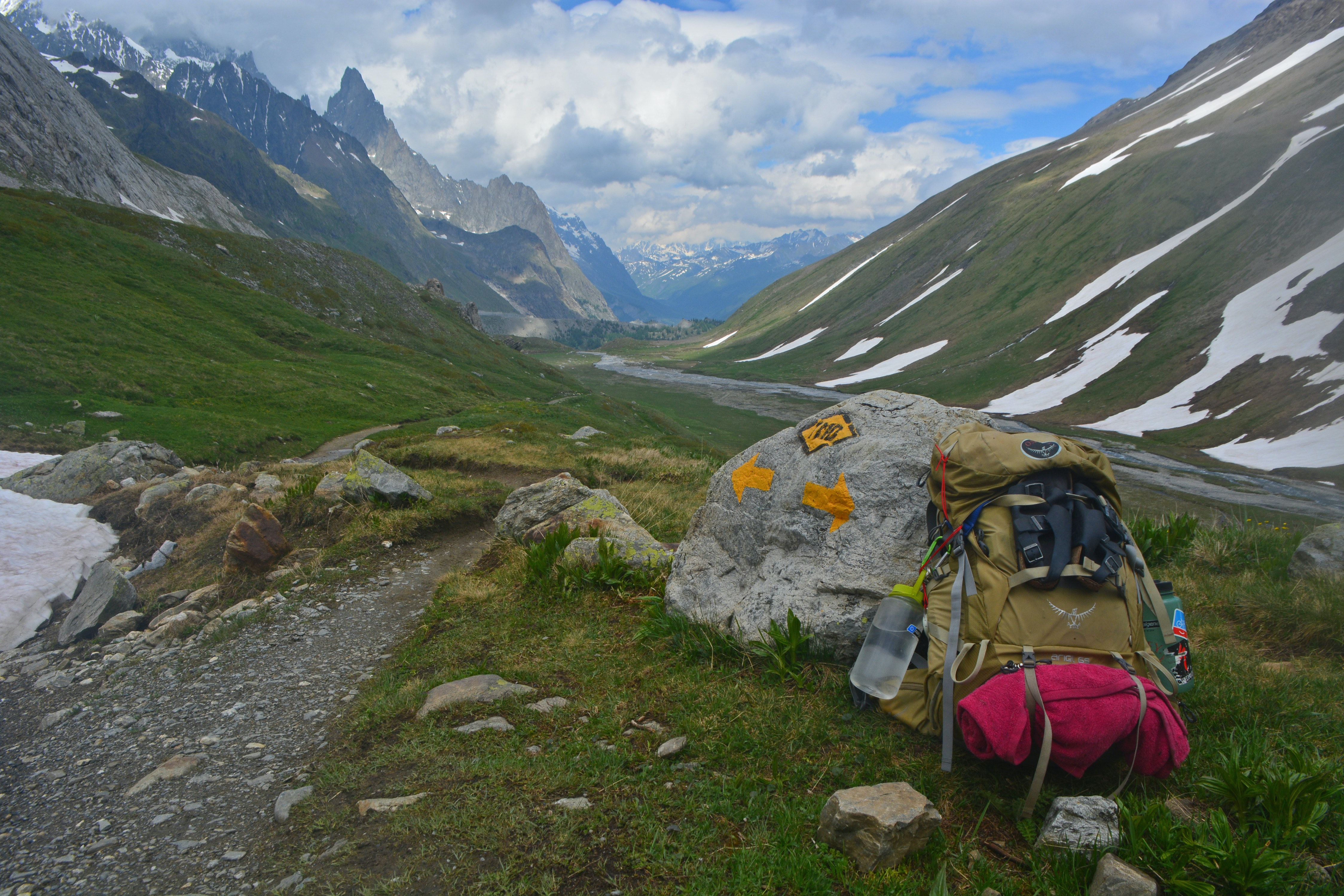 An Osprey backpack was one of the only pieces of proper hiking gear I had in Europe.