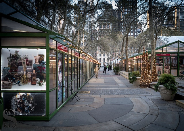 Bryant Park during the holidays