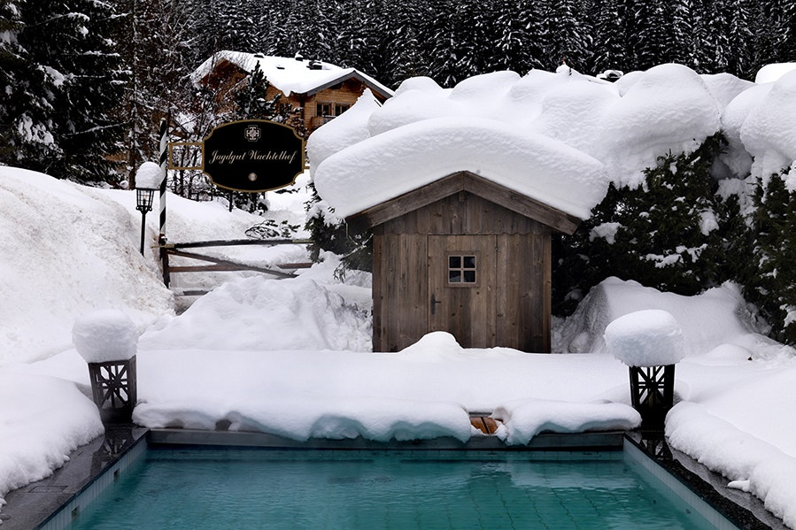 Guests at Boutique Hotel Wachtelhof can try nearby downhill or cross-country skiing, helicopter tours, and ice climbing before taking a dip in the pool.
