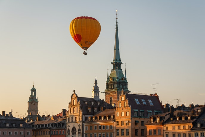 Hot air ballooning is one of Stockholm's most popular tourist activities.