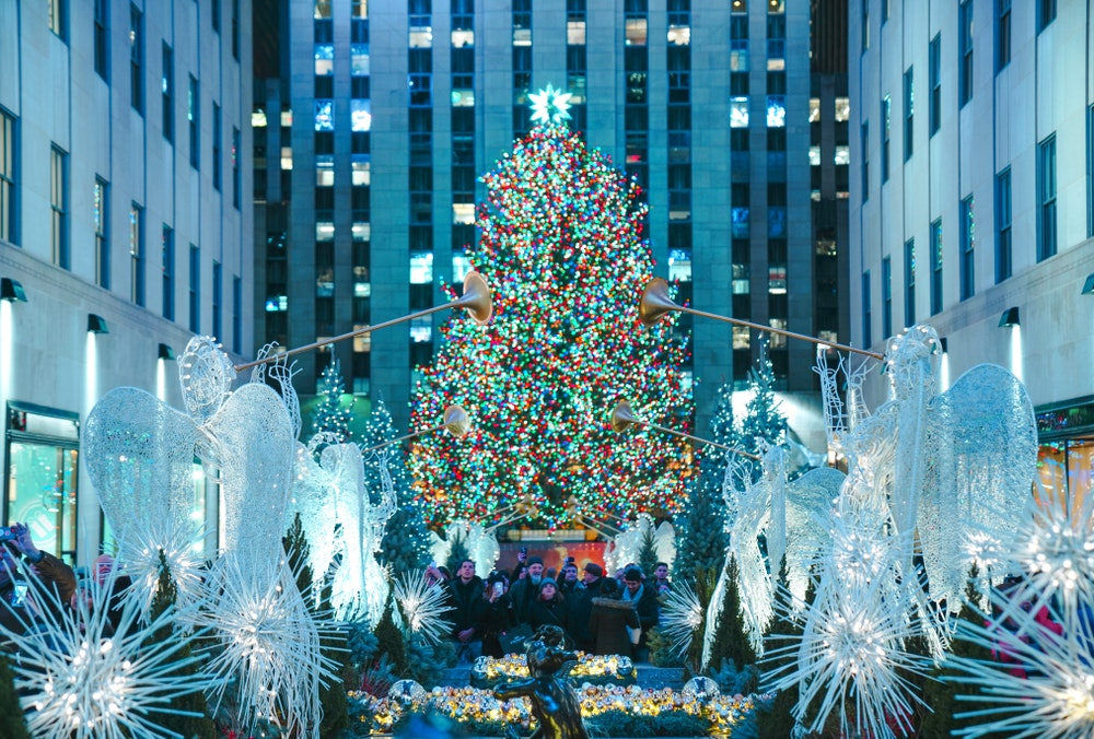 The Rockefeller Center Christmas tree entices tourists and locals when it