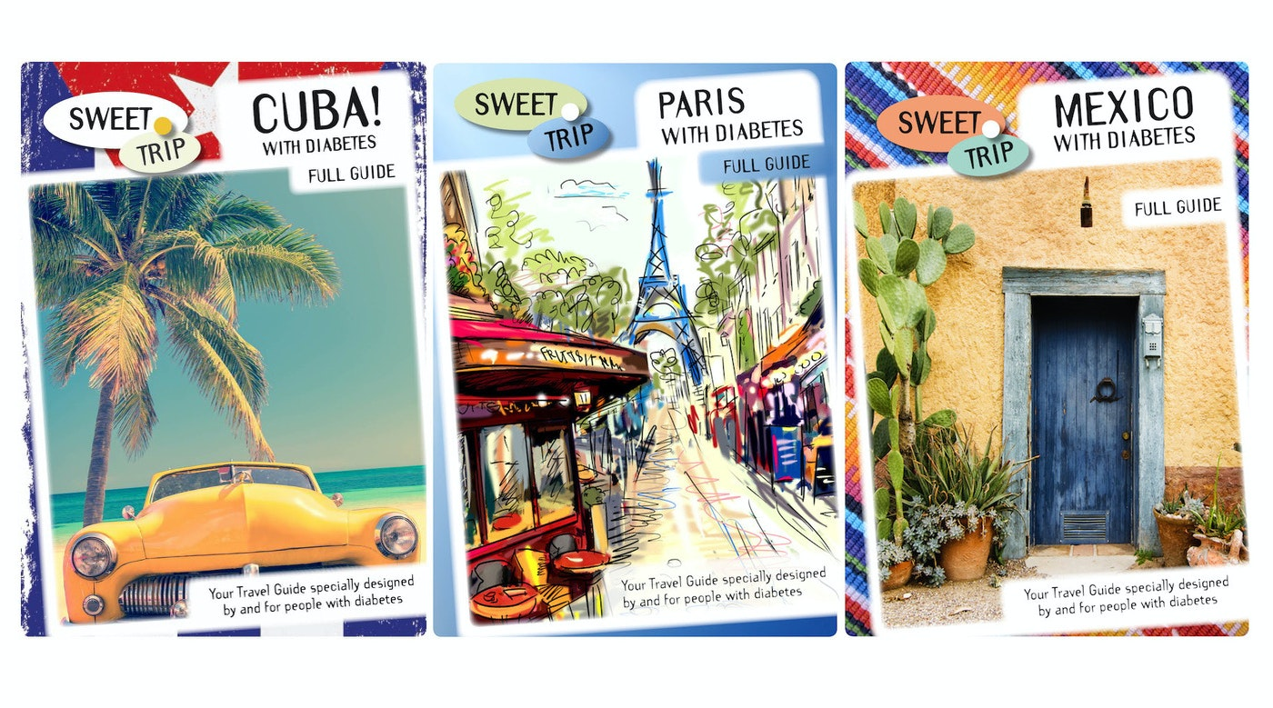 Sweet Trip travel guides are designed for and by people with diabetes Type 1 and Type 2.