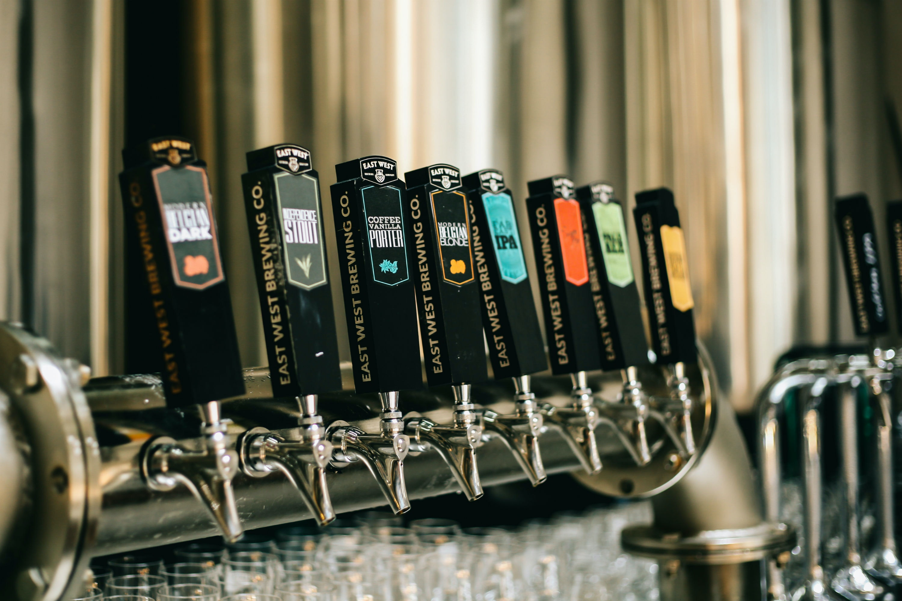 Coffee Vanilla Porter and other exotic flavors are on offer at East West Brewing.