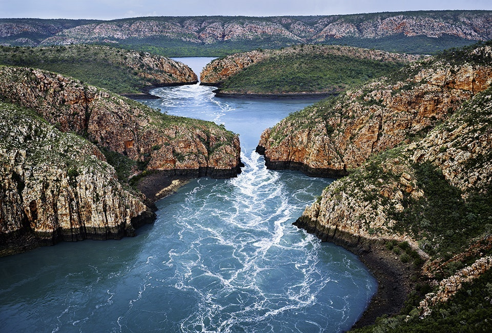 The only way to arrive at the Horizontal Falls is by boat or aircraft.