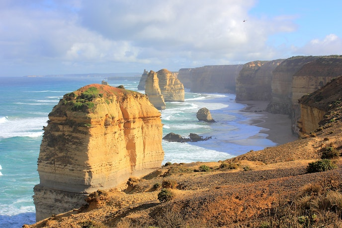 The Twelve Apostles are best viewed at sunrise or sunset.