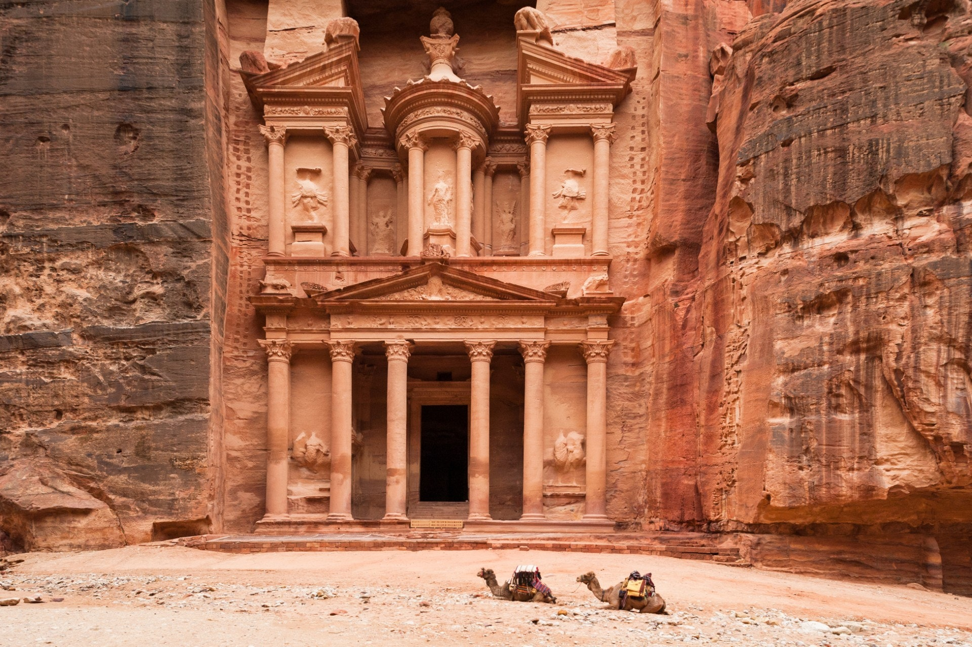 The architectural wonder of Petra is one of Jordan's main attractions.