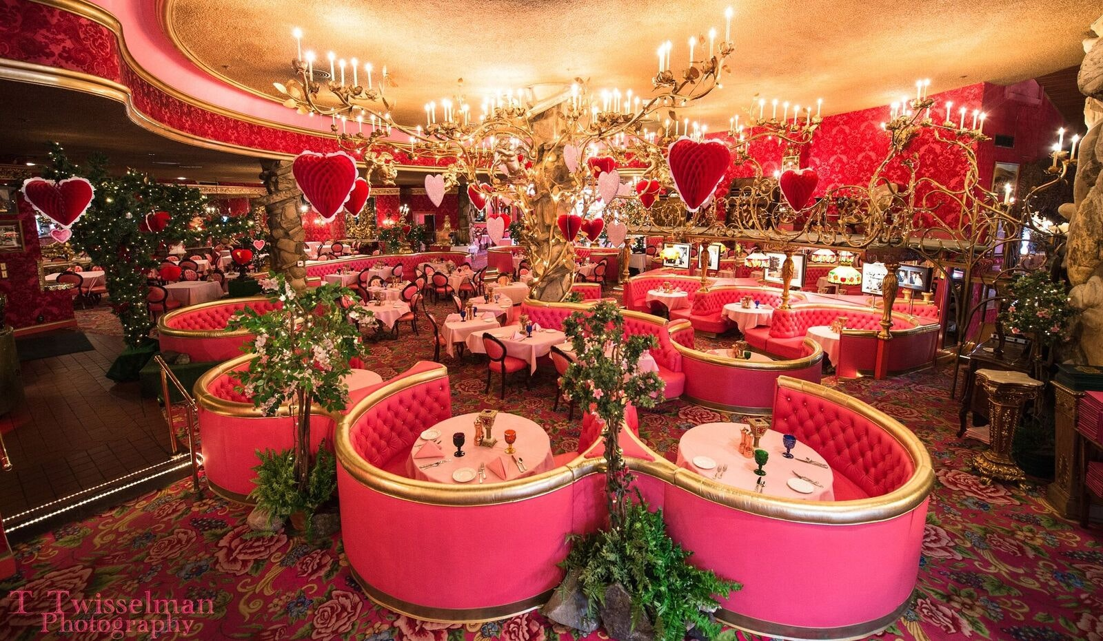 The interior of the Madonna Inn