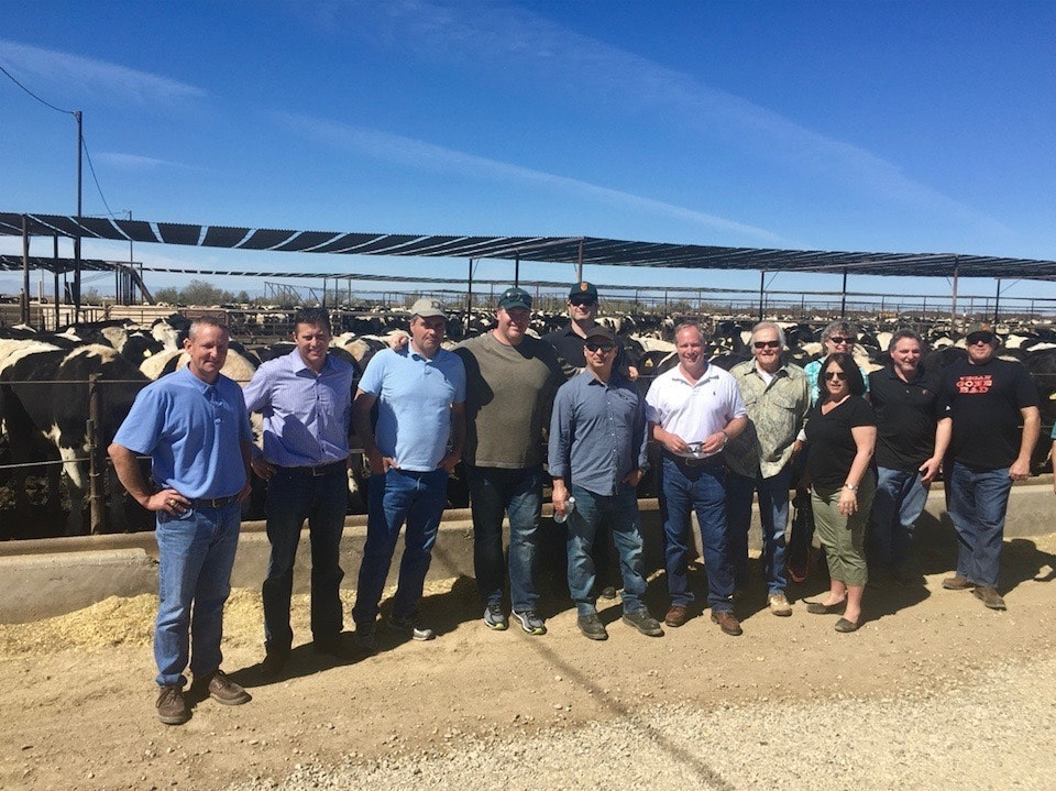 Himmel and his team at the Brand family farm, from which they source all of their beef