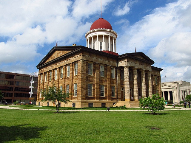 The Old State Capitol Building in Springfield