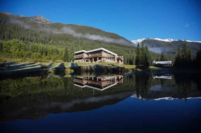 Guests staying at CMH's Bobbie Burns Lodge in Canada's Columbia Mountains travel to hard-to-reach hiking spots via helicopter.