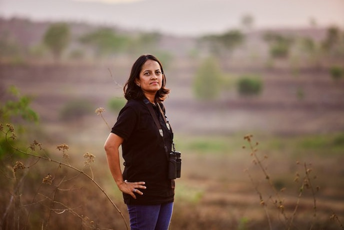 Krithi Karanth, a conservationist working on solutions to human-wildlife conflict in India.