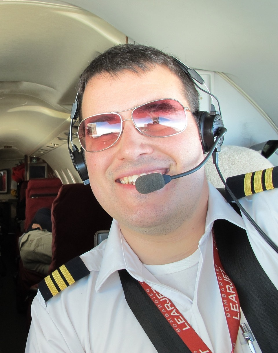 Air ambulance pilot Maxime Proulx