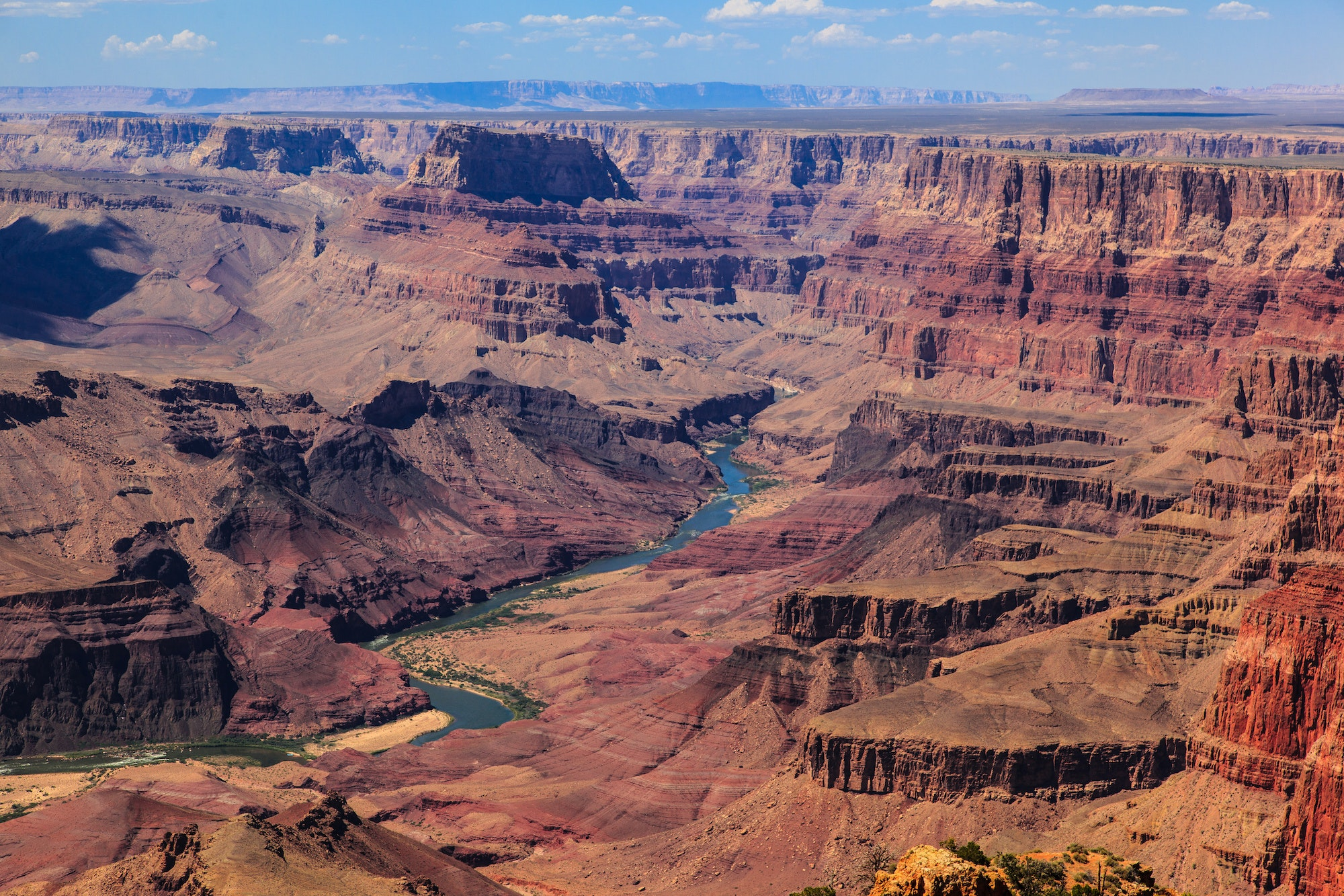 The Grand Canyon is 277 miles long, up to 18 miles wide, and more than a mile deep.