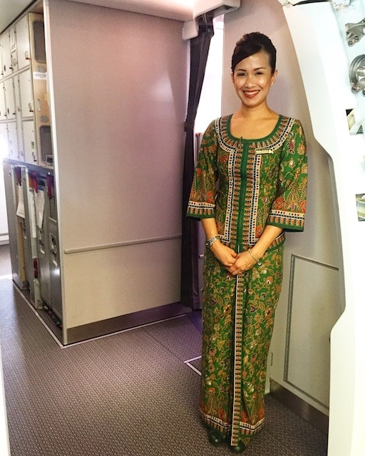 Boarding the inaugural Singapore Airlines flight from SFO to SIN on Oct. 23, 2016
