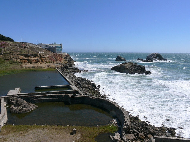The Sutro Baths and the Cliff House