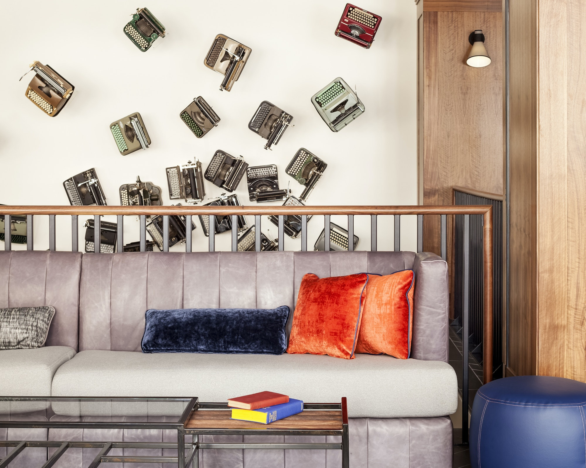 The editorial-inspired interiors of the Press Hotel channel the building's past as a newspaper plant.