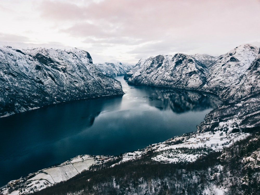 UNESCO-listed Nærøyfjord, the most famous of Norway's many fjords, is accessible for viewing all winter.