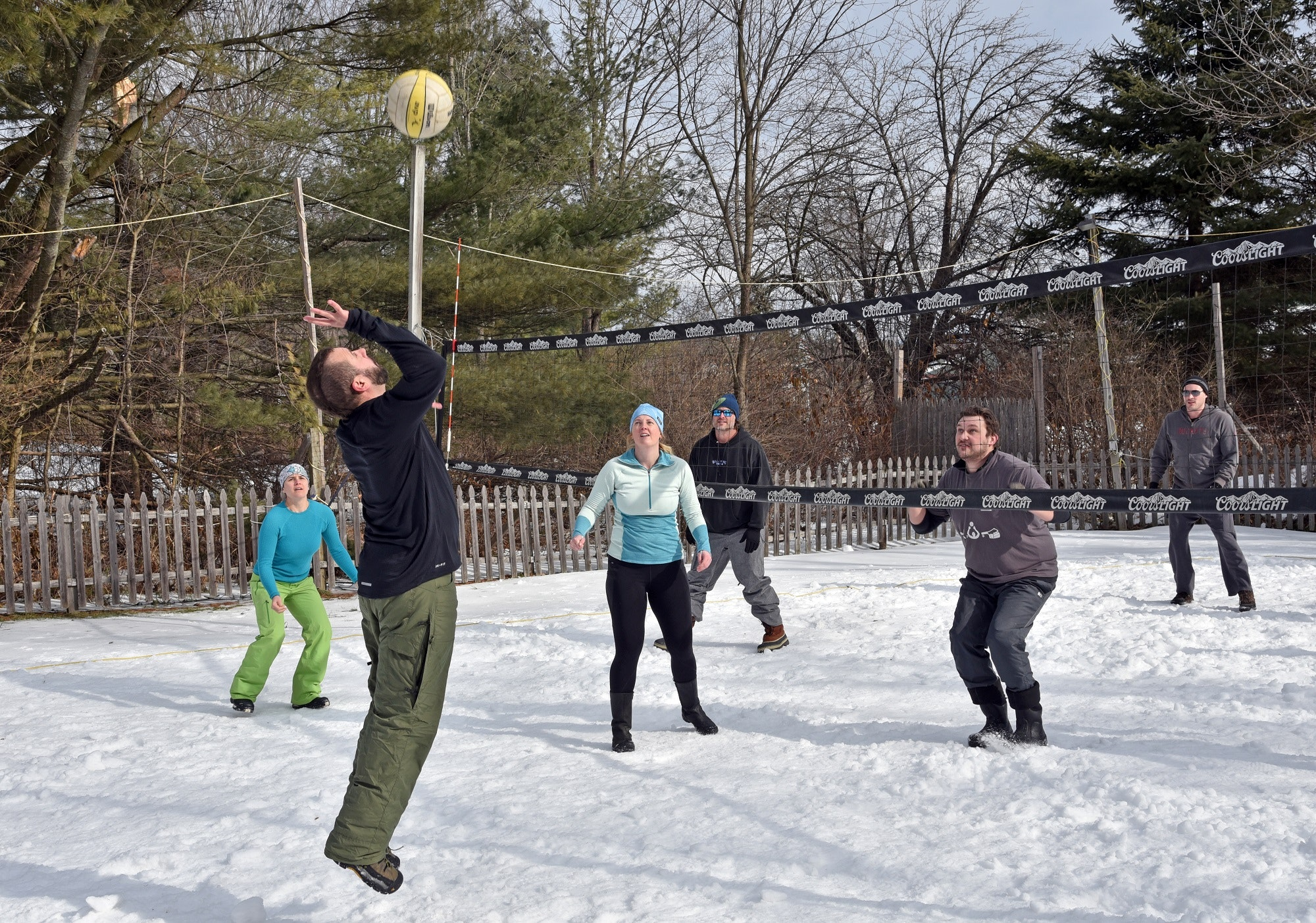 Who needs the beach? Get in a game of snow volleyball at the Stowe Winter Carnival in Vermont.