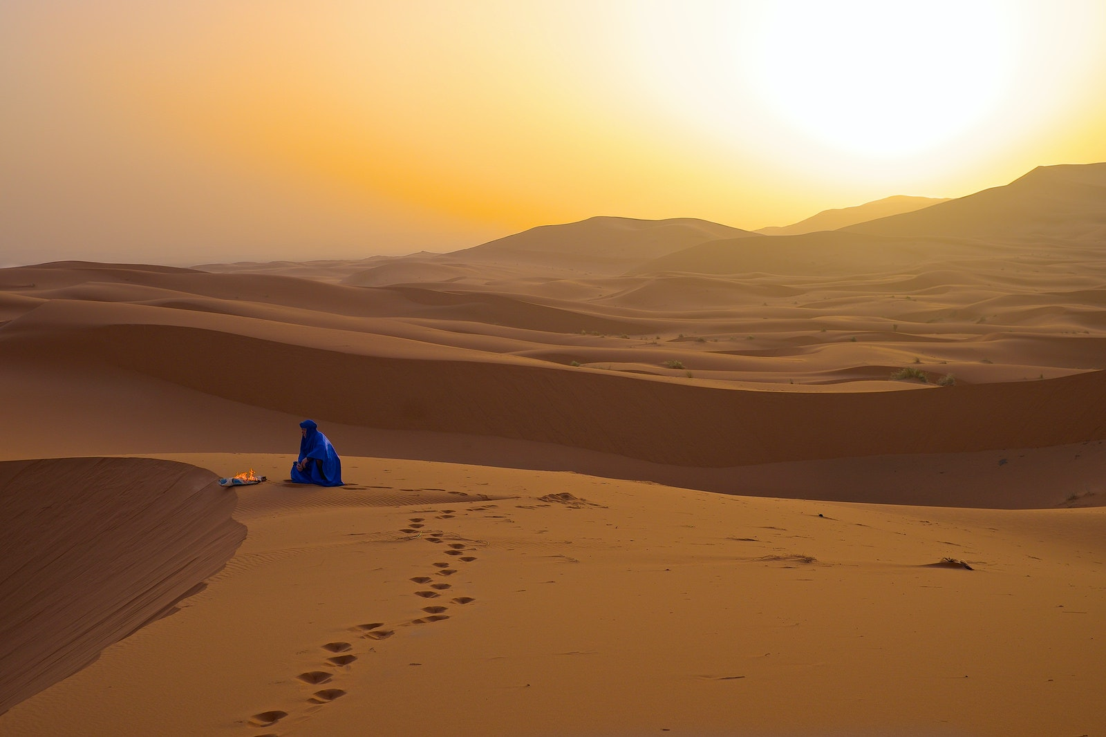 """Golden Hour"" in the Sahara"