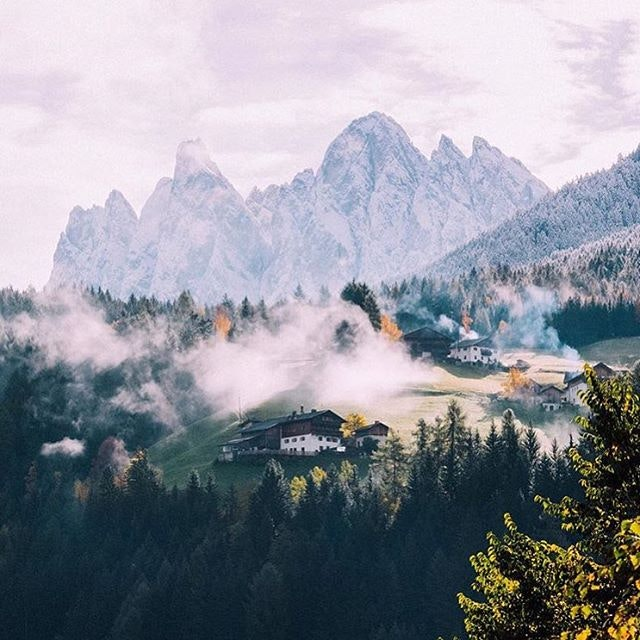 A peaceful morning in the Northern Italian Alps