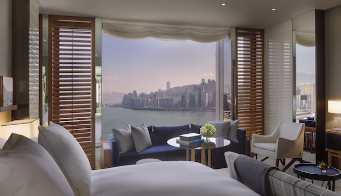 More than 80 percent of the rooms at Rosewood Hong Kong have views of Victoria Harbour.