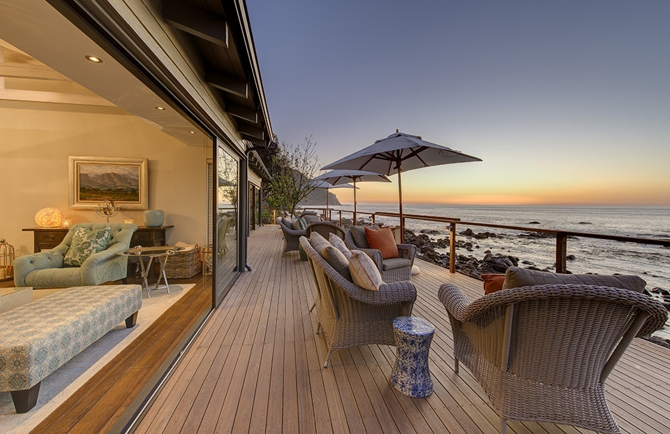 Look out for whales from your oceanside veranda at Tintswalo Atlantic.