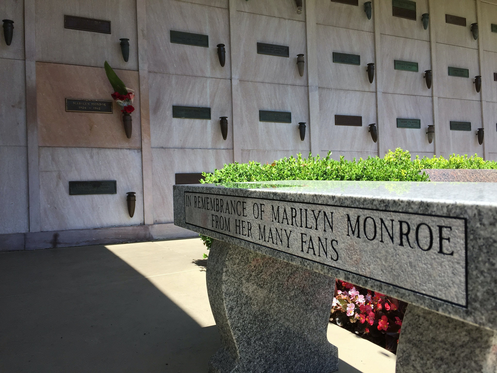 Marilyn Monroe is one of the many celebrities buried in Westwood Village.