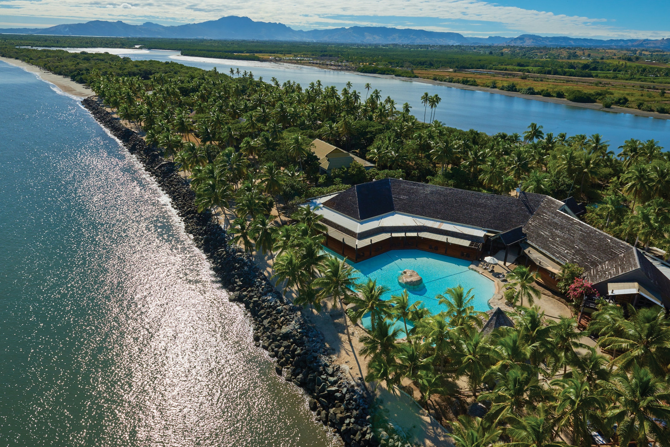 The DoubleTree Resort by Hilton Hotel Fiji–Sonaisali Island is located on a private island.