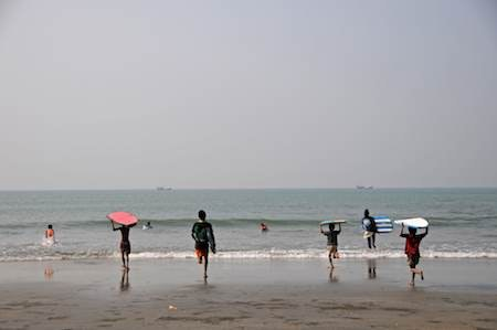 The Bangladesh Surf Club hits the waves.
