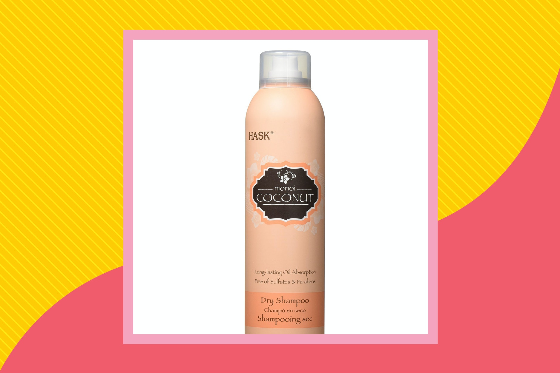 Hask Coconut dry shampoo has a subtle scent that's not too overpowering.