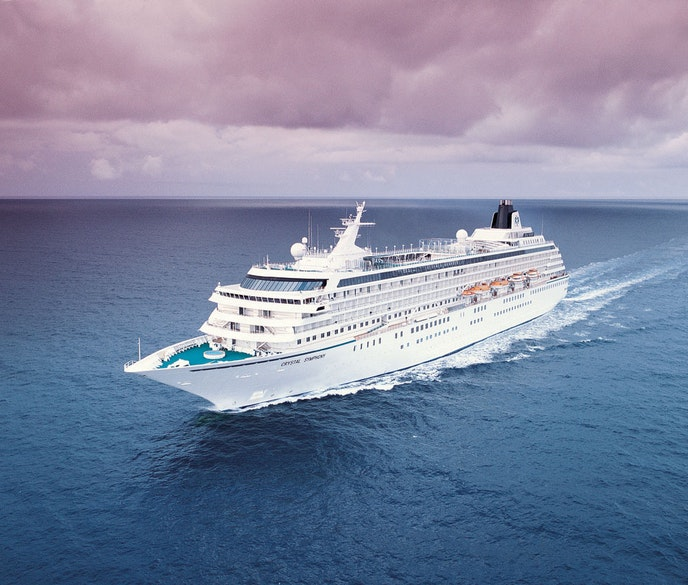"""Experience a Panama Canal transit in style aboard the """"Crystal Symphony."""""""