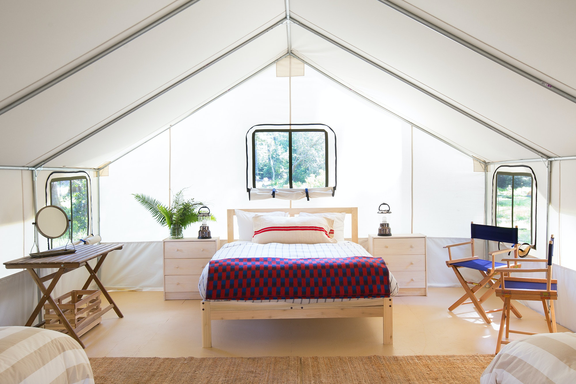 The tents at Mendocino Grove are equipped with all the comforts of home.