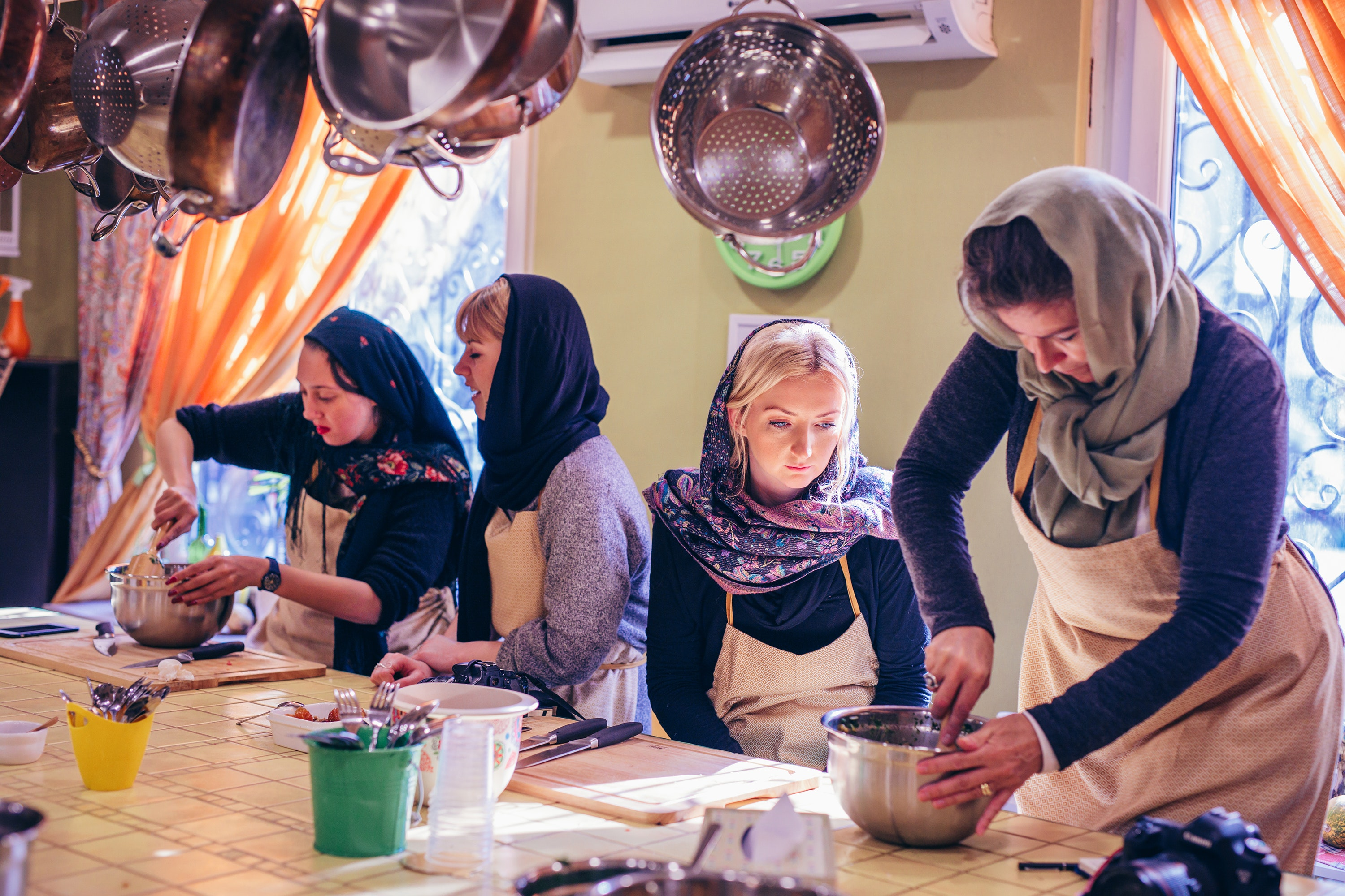 Travelers learn the secrets of Persian cooking on the Iran Women's Expedition.