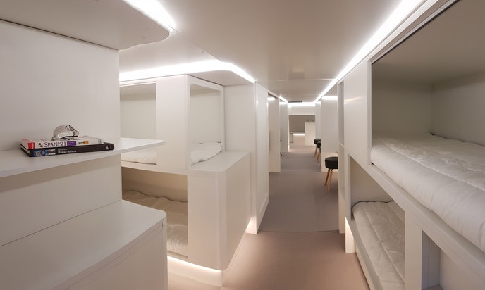 Zodiac's Lower Deck Modules concept puts living spaces and bunk beds in the cargo hold.