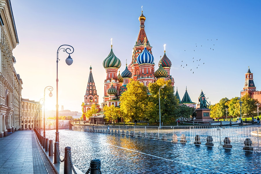 In June, Moscow experiences warmer temperatures and many hours of daylight.