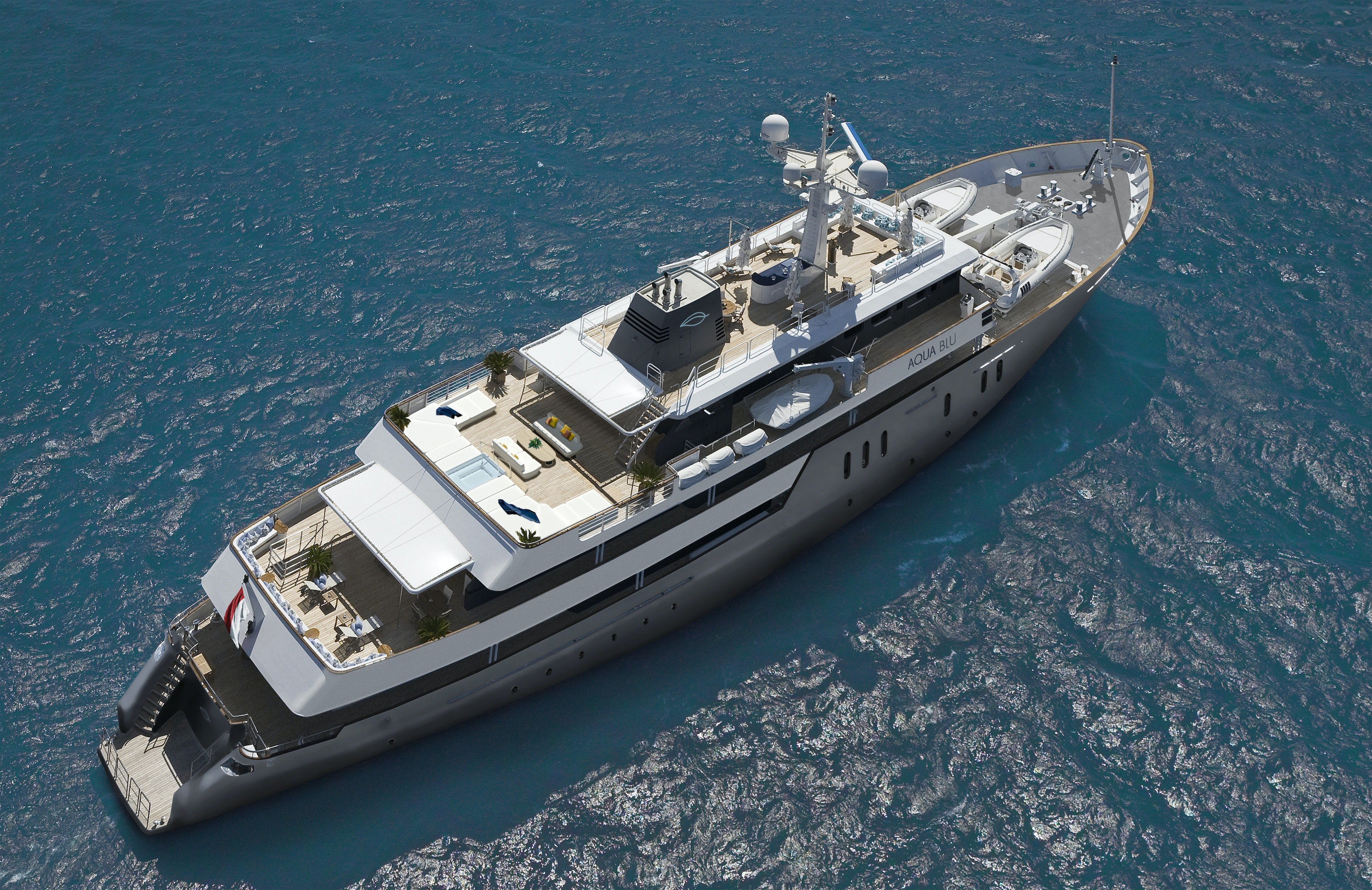 A top-down look at the forthcoming Aqua Blu, a full refurbishment of the British naval vessel the HMS Beagle.