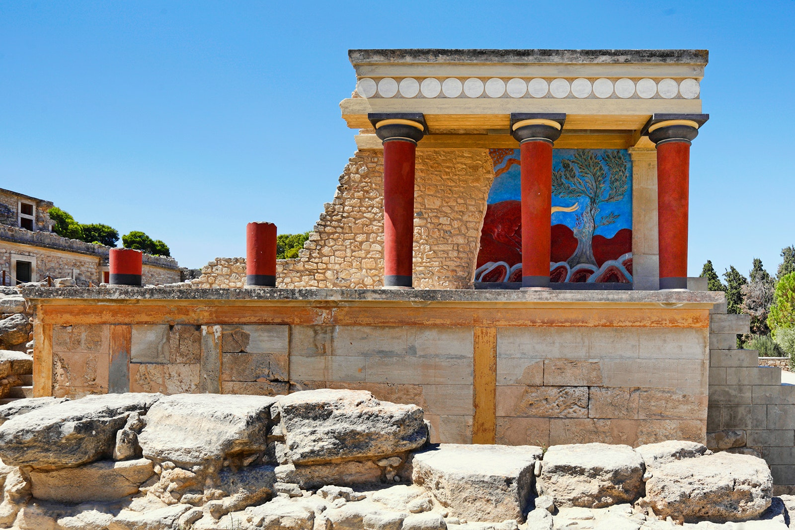 The Palace of the Minoans in Knossos