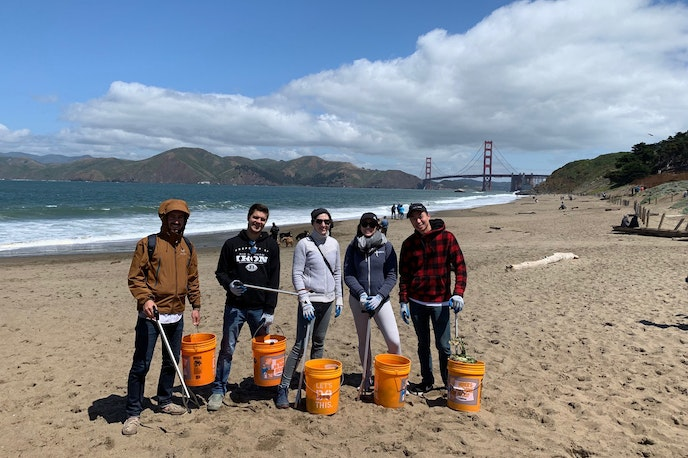 Across the country, Surfrider Foundation chapters host regular cleanups; the San Francisco team organizes three events each month.