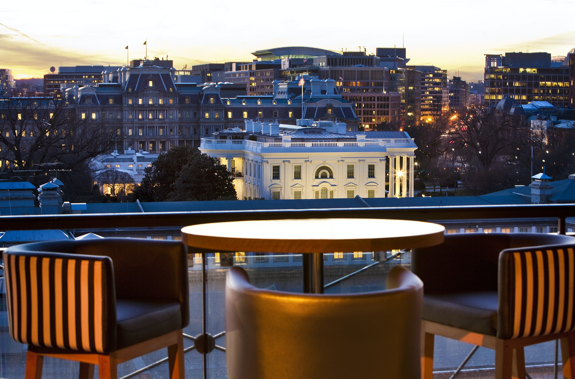 Get almost West Wing access while sipping a cocktail.
