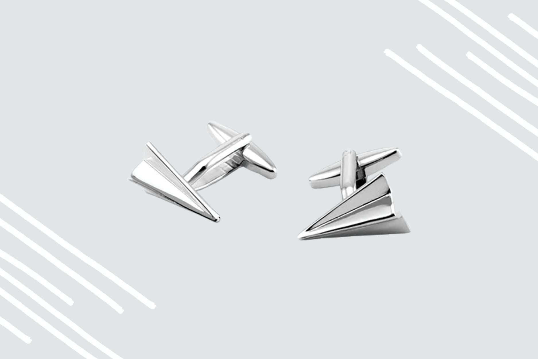 Show off aviation adoration with snazzy airplane cufflinks.