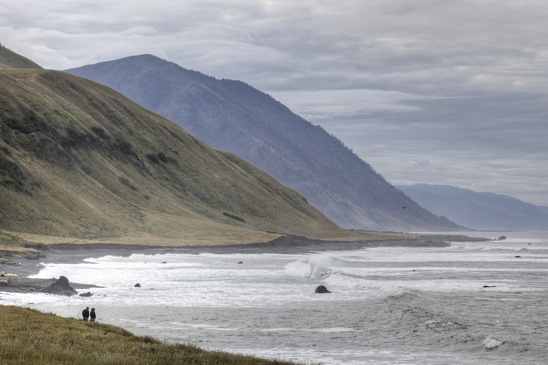 There's plenty of beach camping along the moody Lost Coast, but backpacking in this remote stretch of land is not for the faint of heart.