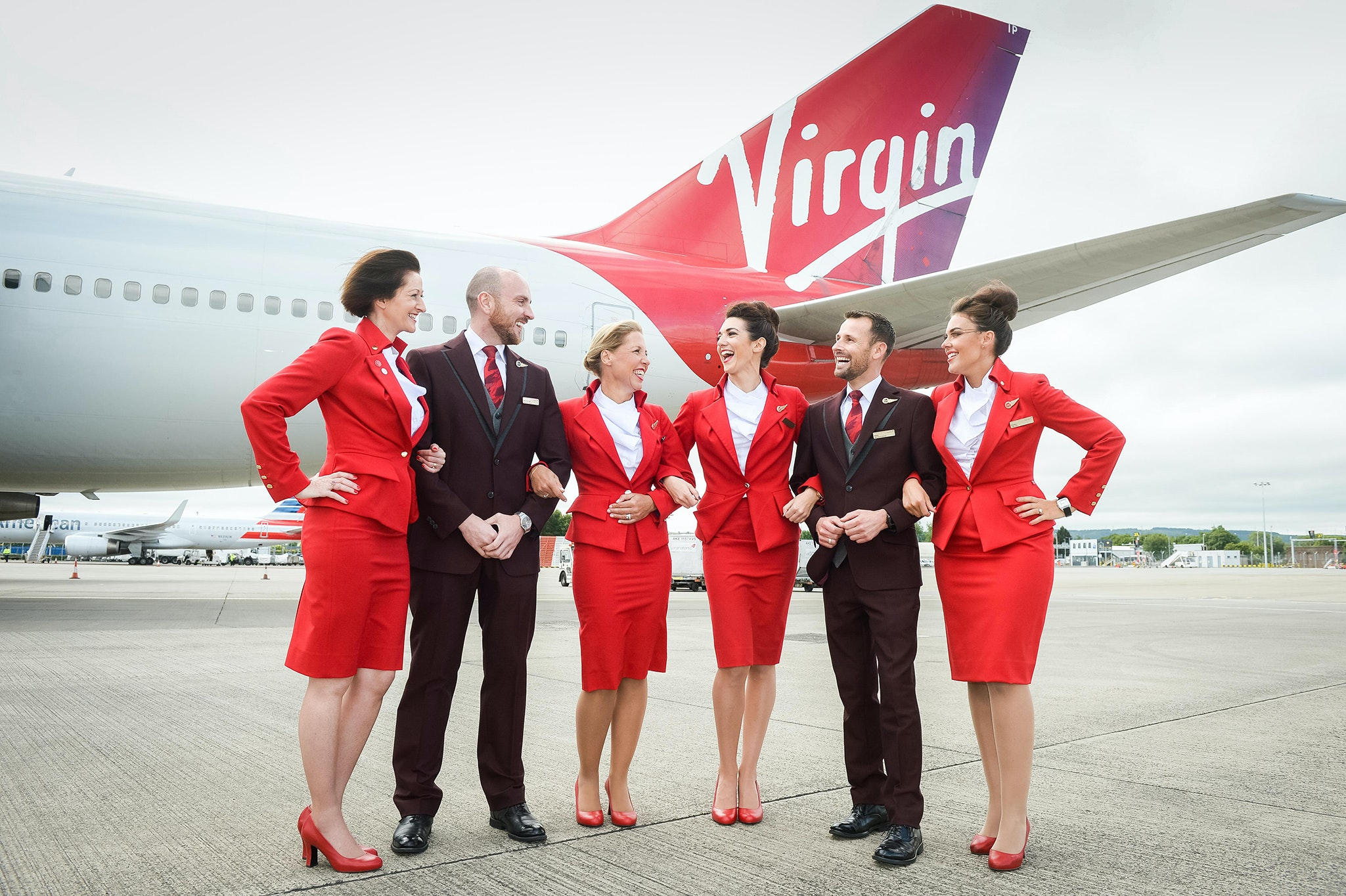 Virgin Atlantic—known for its Vivienne Westwood–designed skirted suits and nipped-waist jackets in bold red—now allows female flight attendants to wear pants and go without makeup.