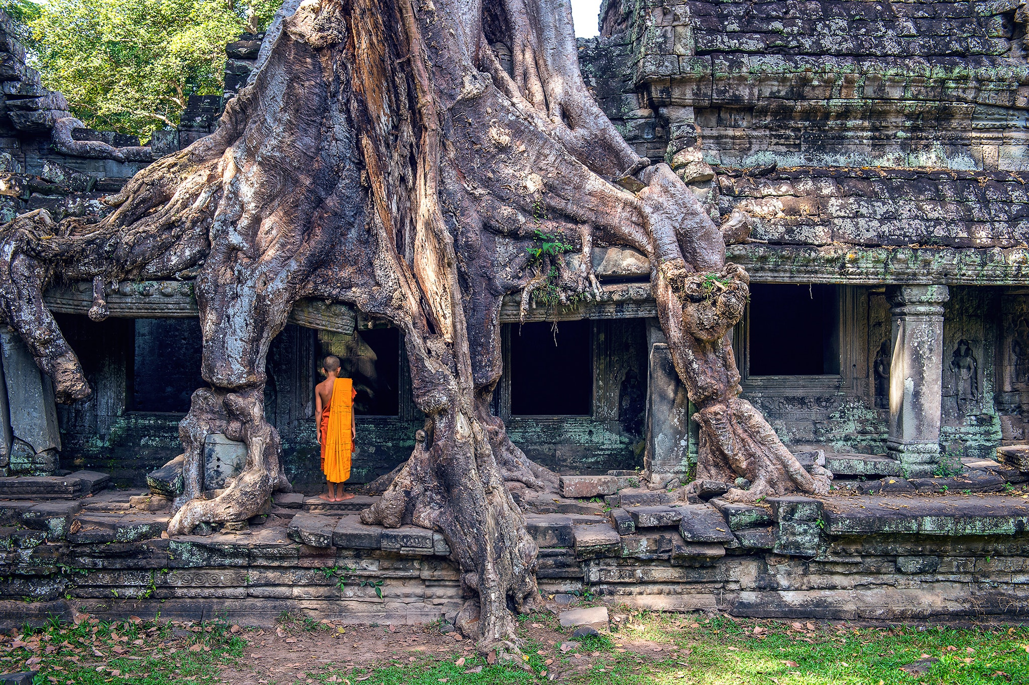 Angkor Wat is one of the world's largest religious monuments, with five iconic towers that represent the five peaks of Mount Meru, a sacred mountain in Hindu mythology.