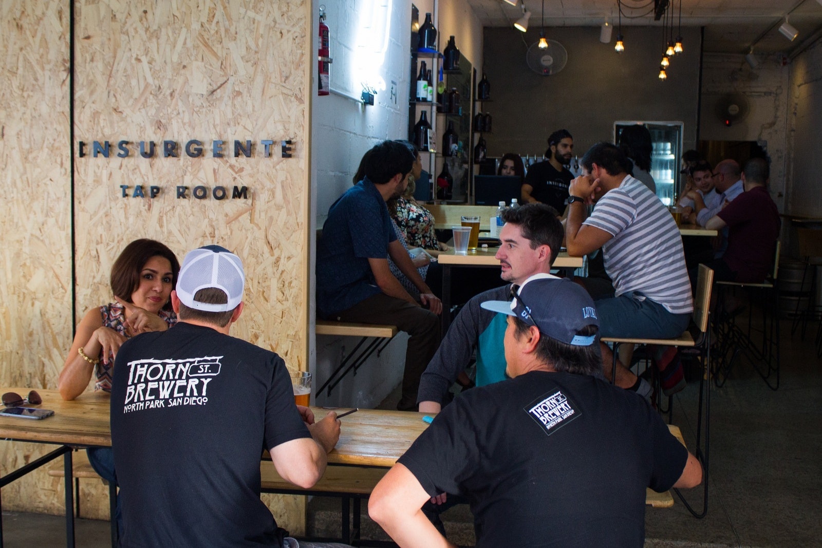Tap room of Cevecería Insurgente