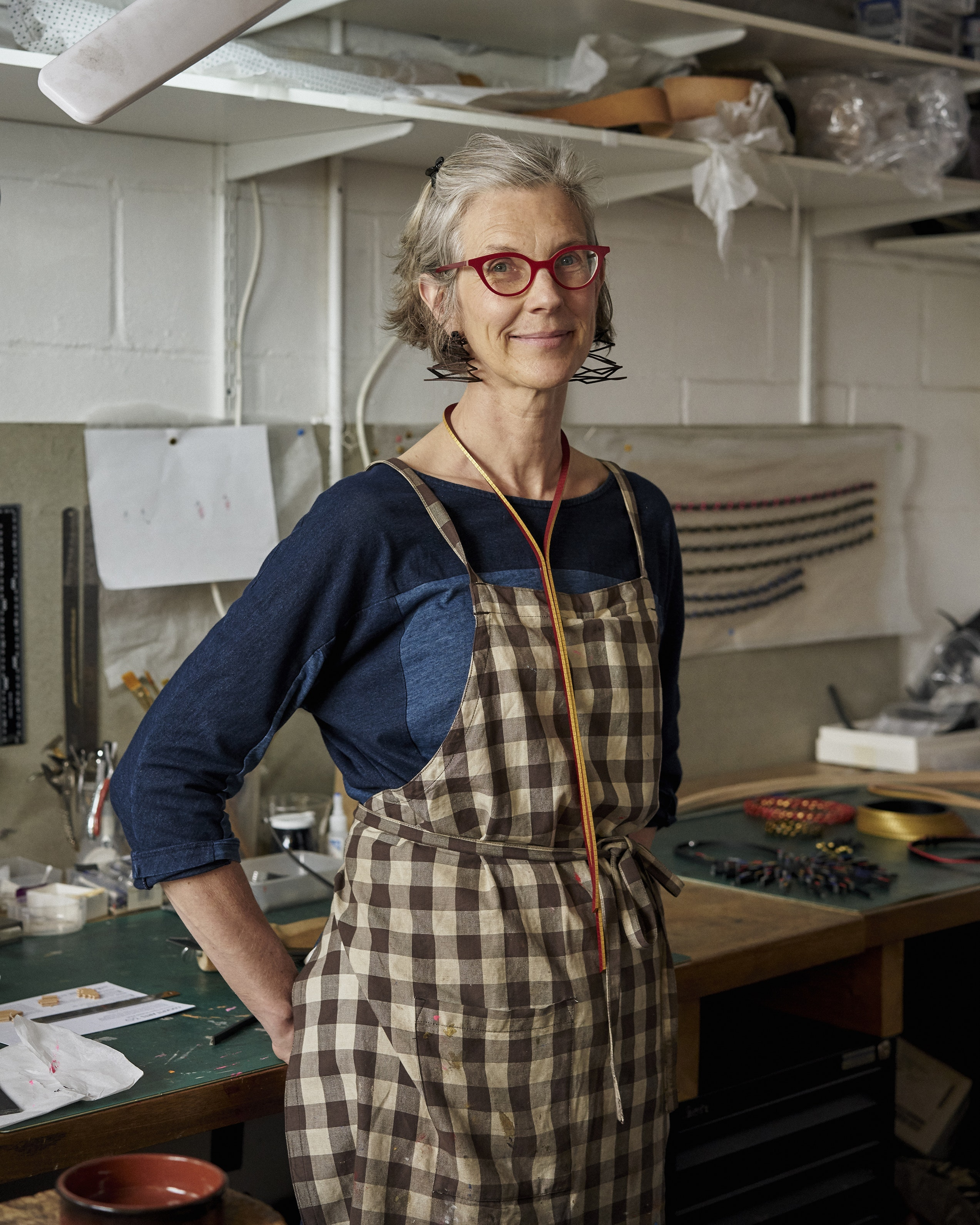 Tania Hall in her studio at Cockpit Arts in London's Holborn district.