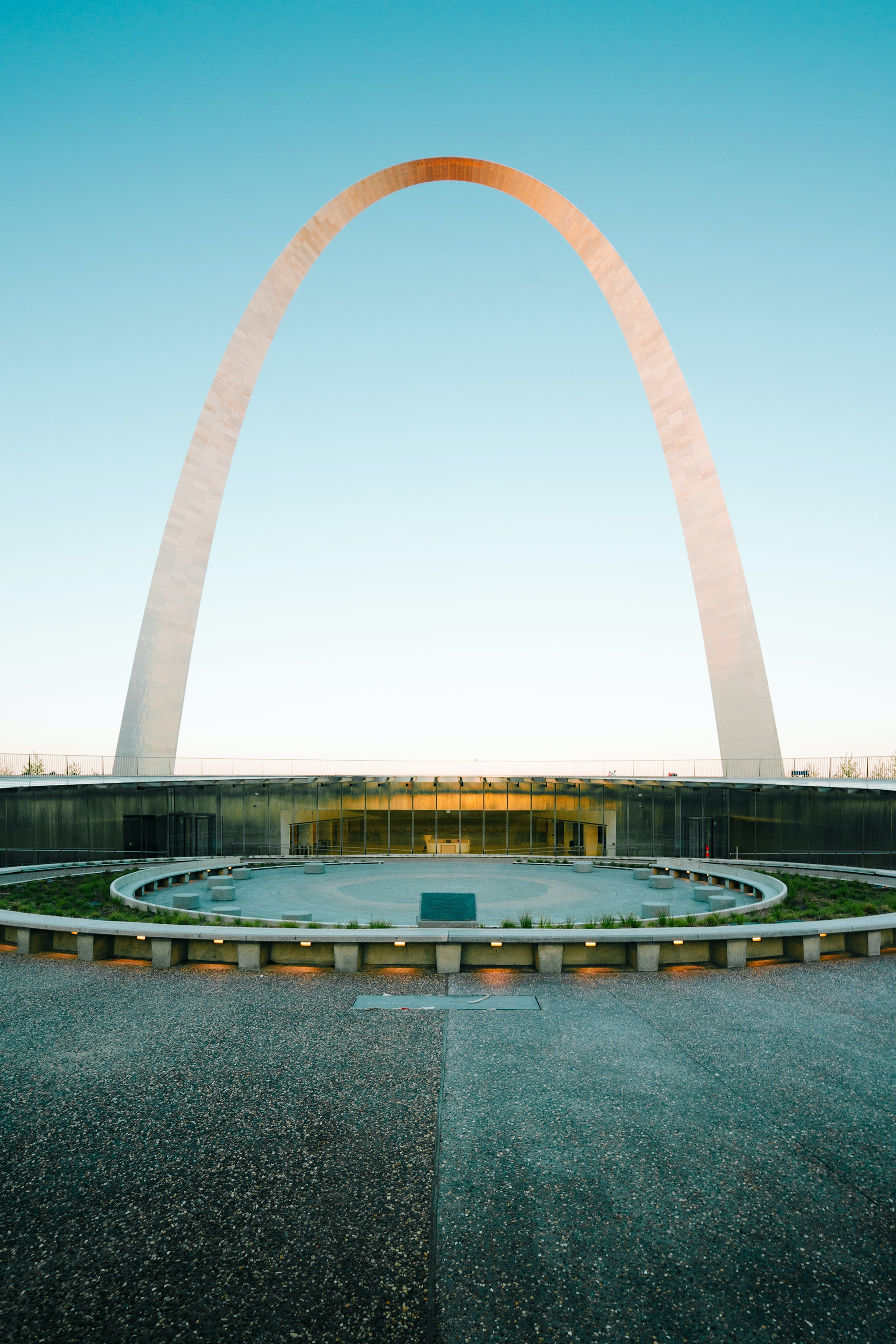 The entrance to the new museum at Gateway Arch National Park