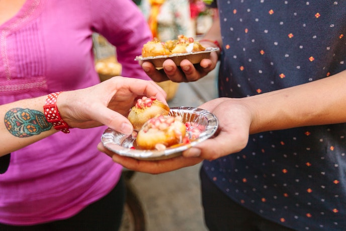 On Intrepid Travel's vegan food tours in India, travelers can sample street food under the guidance of a member of the local vegan community.